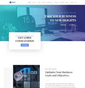 free business consultant wordpress theme