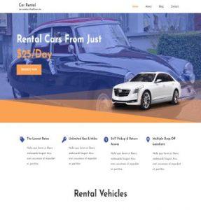 free car rental wordpress theme