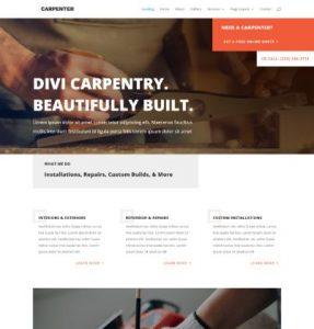 free carpenter wordpress theme