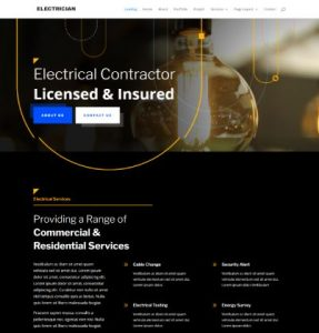 free electrician wordpress theme