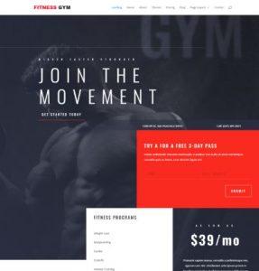 free fitness gym wordpress theme