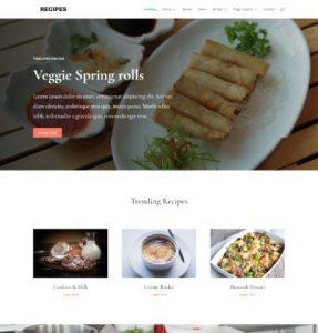 free food recipes wordpress theme