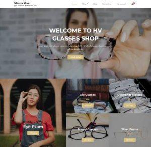 free glasses shop wordpress theme