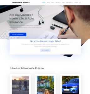 free insurance agency wordpress theme