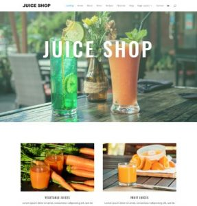 free juice shop wordpress theme