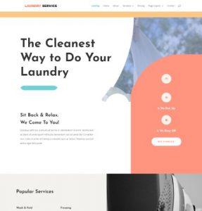 free laundry service wordpress theme