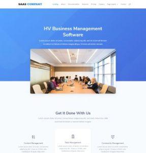 free saas company wordpress theme