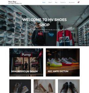 free shoes shop wordpress theme