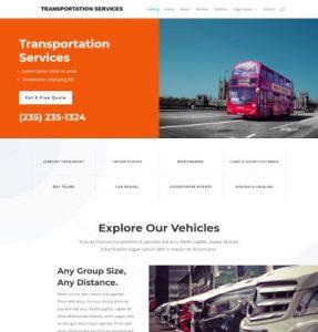 free transportation services wordpress theme